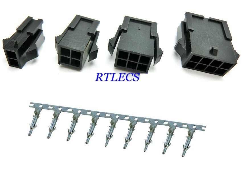 """2 יחידות Micro-Fit 3.0 מ""""מ מחבר שורות כפולים שיכון שקע 2x1 2x2 2 x סיכה 3 2x4 2 4 6 8 10 12 14 16 18 20 22 24 P מסוף זכר"""