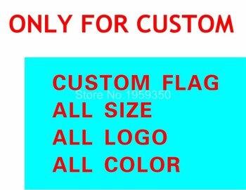 Bandera de encargo 150X90 cm (3x5FT) 120g 100D poliéster todo logo todo color bandera real nueva moda 10 unidades por lote