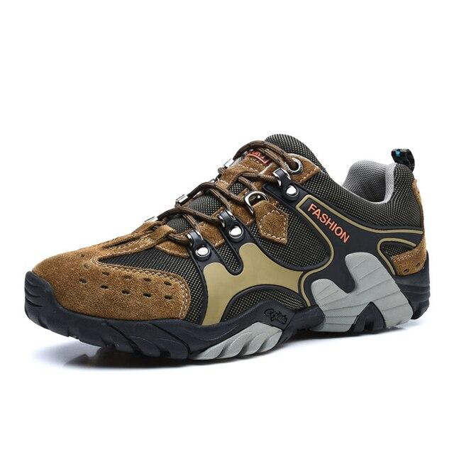 best service a39cd 986b0 US $37.33 48% di SCONTO|Inverno uomo donna scarpe da trekking all'aperto  scarpe uomo sneakers Arrampicata Trekking Scarpe montagna scarpe zapatillas  ...
