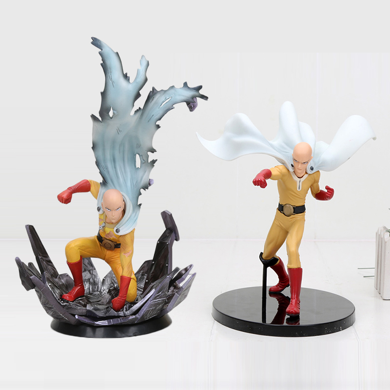 NEW 24cm /15cm One Punch Man Saitama pvc action Figure toys цена