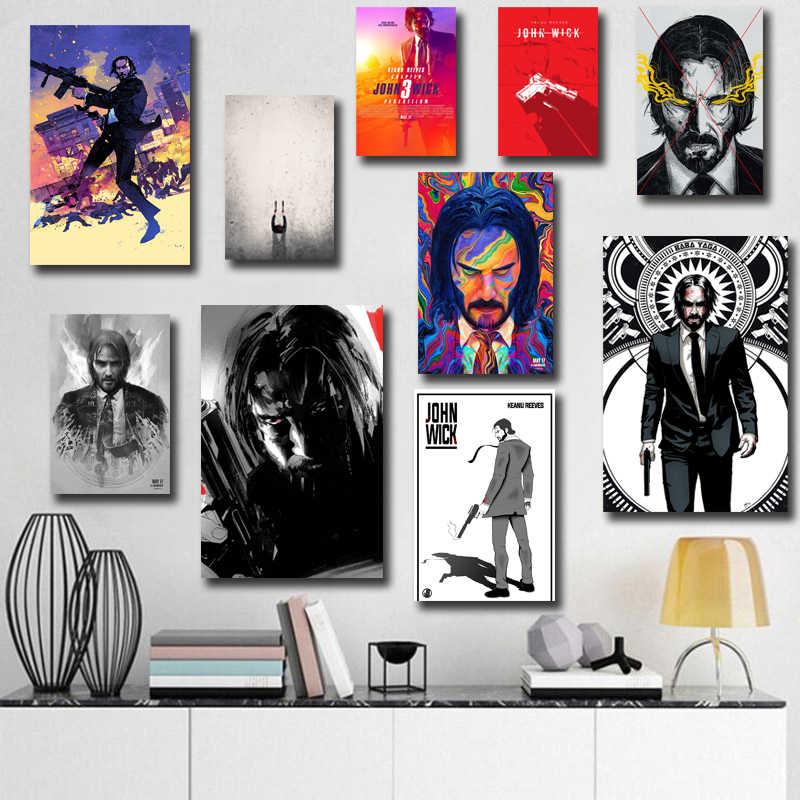 P323 John Wick 3 Parabellum Hot Movie Series Keanu Reeves Art