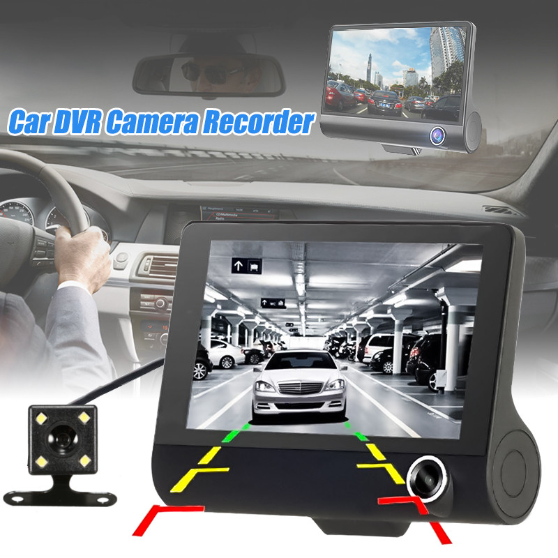 "4/"" Vehicle 1080P HD Car DVR Camera Video Recorder Dash Cam G-Sensor Dual Lens"