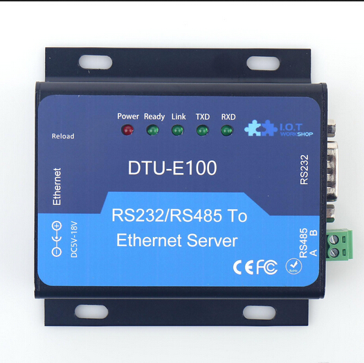 F18915 Ethernet Server RS232/RS485 RS232 RS485 Ethernet Serial Server DTU HF-E100