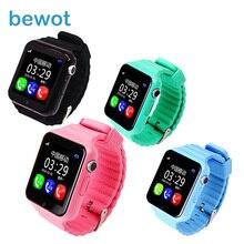 Дети GPS Bluetooth Smart часы v7k безопасности анти-потерянный трекер Facebook Водонепроницаемый Поддержка sim-tf Камера Дети SOS SmartWatch