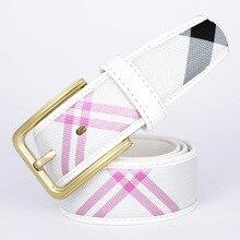 New Designer Famous Brand Canvas Luxury V Belts Men Women golf Belts Female Waist Strap canvas Alloy Buckle Belt Strap Gg Brand