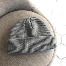 ae0e850e03e Men Knitted Hat Beanie Skullcap Sailor Cap Cuff Brimless Retro Navy Style  Beanie Hat IK88(