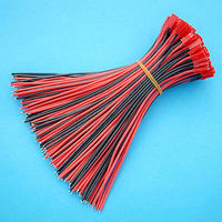 100Pcs x Battery 18cm Male Plug JST 22AWG Silicon Wire Connector Cable