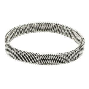 Image 3 - 女性ラウンドローズゴールド弾性ブレスレットカジュアルチャーム柔軟なステンレス鋼の宝石のブレスレット腕輪ギフト卸売卸売