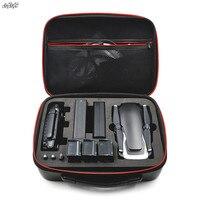 Mavic Air Carbon Skin PU Waterproof Bag Handbag Portable Case Spare Parts Storage Box For DJI
