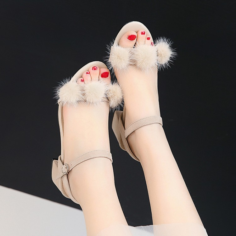 Big Size9 10  11 12 high heels sandals women shoes woman summer ladies Fleecy peep-toe strap back exposedBig Size9 10  11 12 high heels sandals women shoes woman summer ladies Fleecy peep-toe strap back exposed