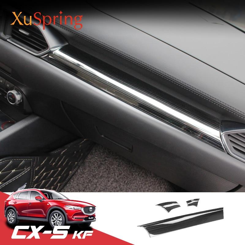 Matte Center Console Upper Stripe Cover Trim For Mazda CX-5 2nd Gen 2017-2019