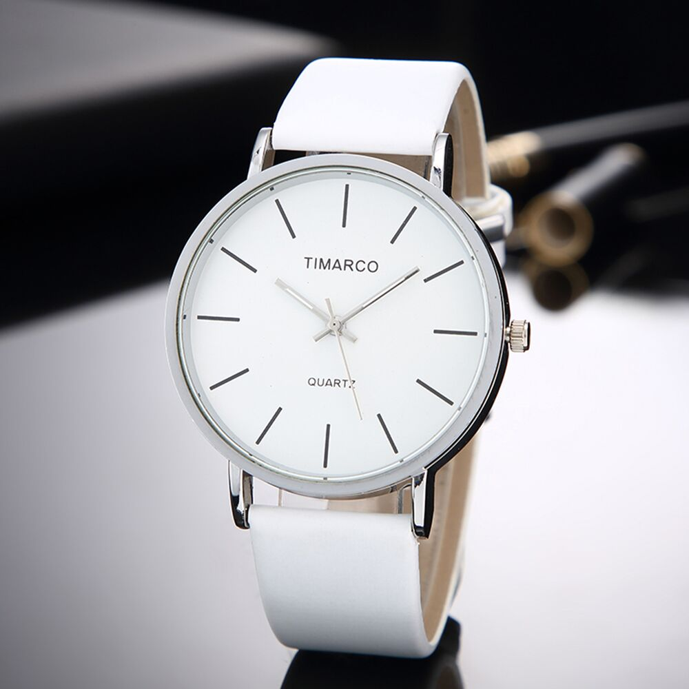 Simple Style White Leather Watches Women Fashion Watch Minim
