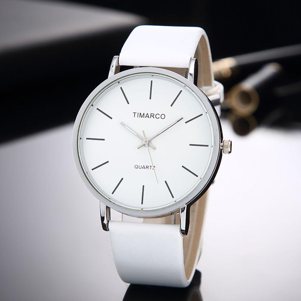 Simple Style White Leather Watches Women Fashion Watch Minimalist Ladies Casual Wrist Watch Female Quartz Clock Reloj Mujer 2019