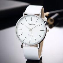 Simple Style White Leather Watches Women Fashion Wa
