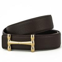 Men's H Casual Leather Belt, Men's New Type Belt Men Split Leather