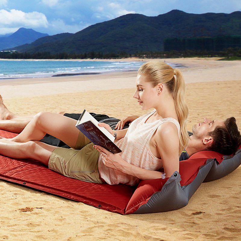 1 2 3 personne épaisseur 5cm matelas gonflable automatique plage coussin pique-nique Pad Hking voiture dos repos sexe lit extérieur Camping tapis - 4