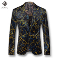 2016 Nuevos Abrigos de Los Hombres Vestido de Los Trajes Blazers y Chaquetas Muescas solapa Blazers Hombres Herren Anzug Veste De Loisir Moda Casual Blazer