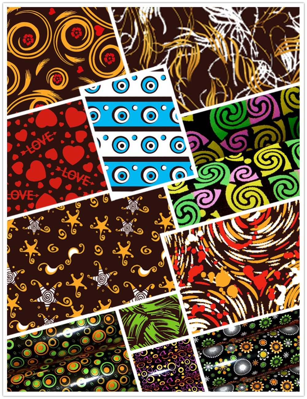 Chocolate Transfer Sheet 10 Printed Different Design Mix Molds Decoration Edible Plastic Paper  Popular Cake Cookie  Baking DIY