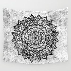 Image 1 - CAMMITEVER Flower Ring Circle Mandala Tapestry Purple Grey Colorful Black White Living Room Bedroom Dorm Home Decorations