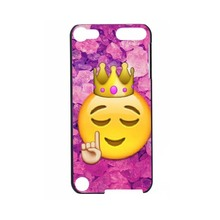 Funny Queen Emoji 2016!Colorful Fashion UV Black Bag Case For ipod Touch 5 6