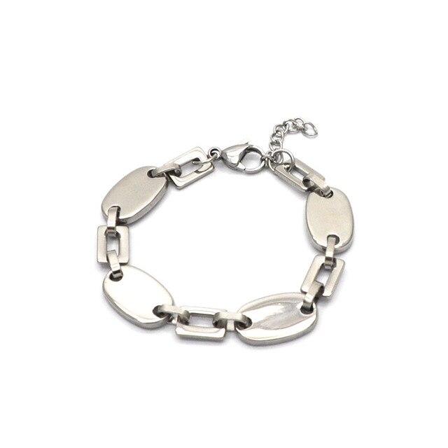 Moda bransoletka hurtownie ze stali nierdzewnej srebrny kolor bransoletka duży młynek do kawy z kwadratowy kształt bransoletki i łańcuszki na rękę unisexBr041523