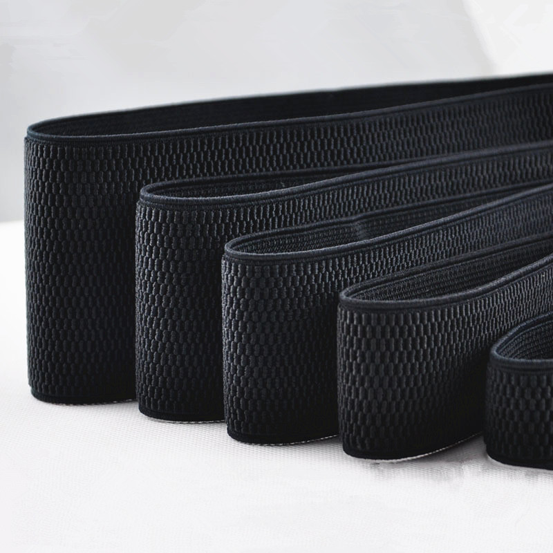 1yards/lot 5-7 Cm Wide Grain Trousers Elastic Ribbon Waistband Thickening Latex Webbing Elastic Band Bags' Sewing Cloth