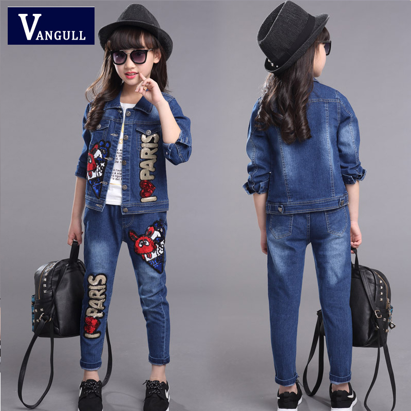 2016 spring  Korean female child children's clothing new spring tide girls sequined cowboy suit skinny biker jeans men hi street ripped rider denim jeans motorcycle runway slim fit washed moto denim pants joggers jw104