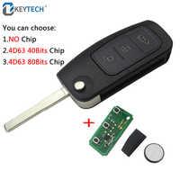 OkeyTech Austausch 315MHz 433MHz 3 Tasten Flip Klapp Fernbedienung Auto Schlüssel für Ford und Fokus 2 3 mondeo Fiesta Schlüssel Fob Fall