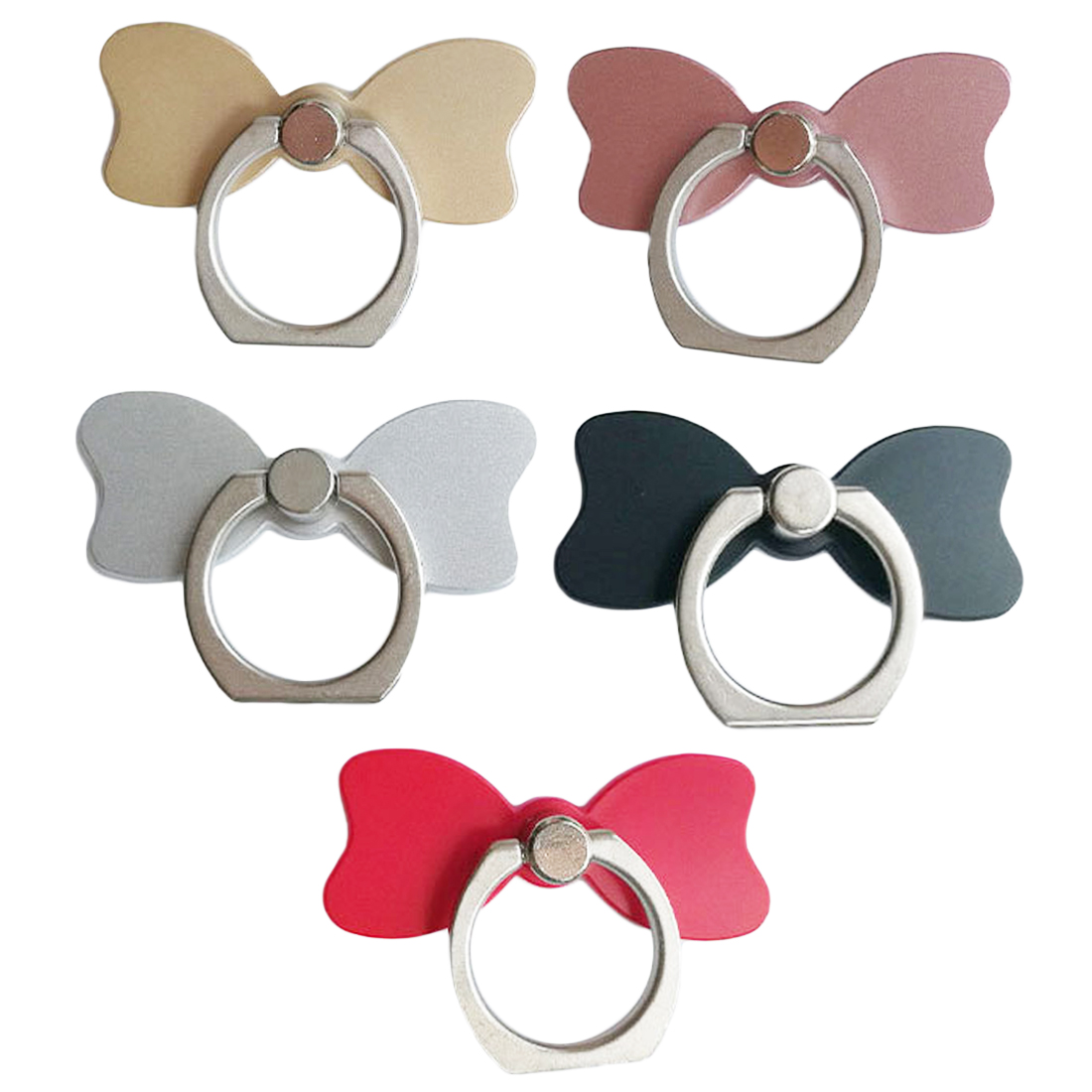 Etmakit  Mobile Phone Holder 360 Degree Bow Tie Finger Ring Smartphone Stand Holder Stand For IPhone IPad Huawei Xiaomi