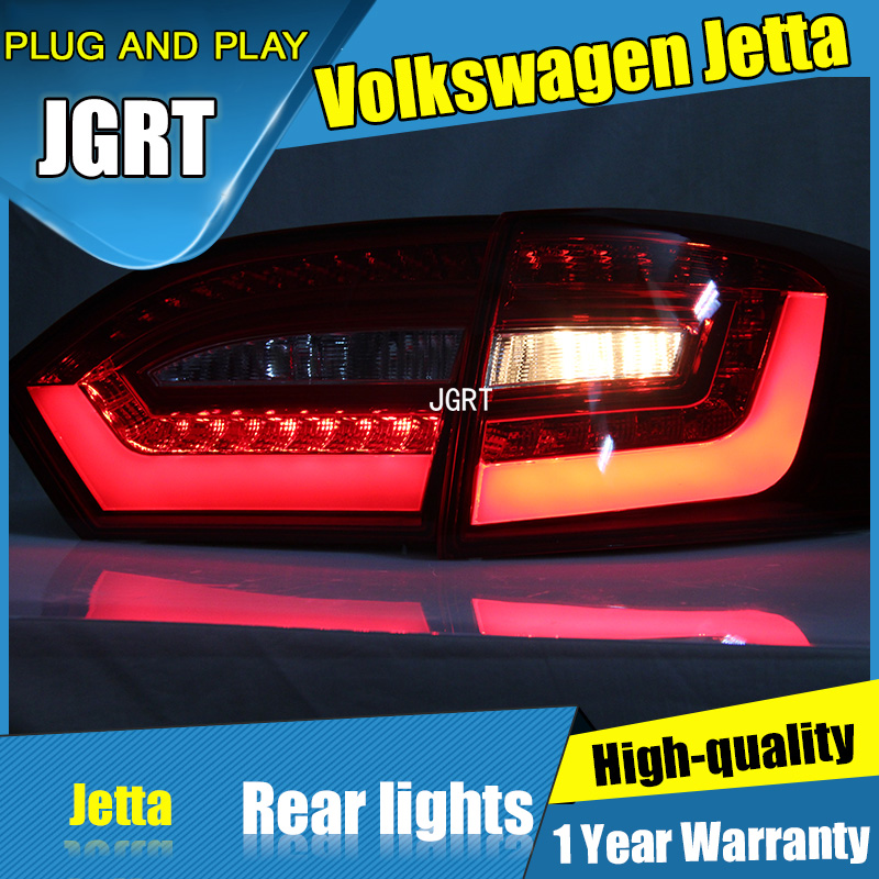 4PCS Car Styling for VW Jetta Taillights 2011-2014 for Jetta LED Tail Lamp+Turn Signal+Brake+Reverse LED light стоимость