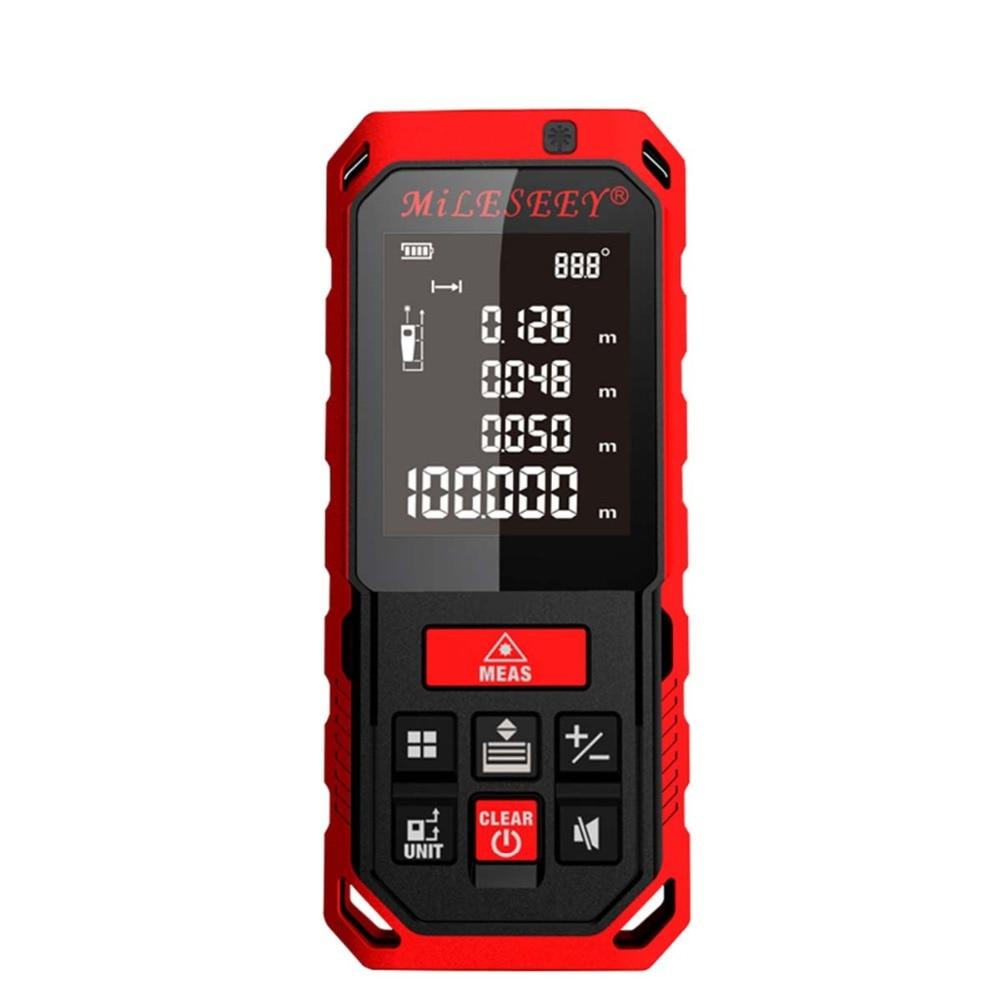 S7 Mileseey s7 laser distance meter 40m 60m 80m 100m Mini Handheld optical laser Rangefinder binoculars case tape measure laser optical instruments berent bt4004 lcd laser rangefinder meter