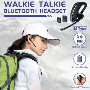 Image 2 - Walkie Talkie Wireless Headset PTT Bluetooth Earphone with Mic M Plug Wireless headphone Handsfree for Moto Ham Station