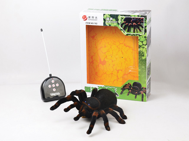 In Stock Hot Sale Creative multi-functional high simulation control cross spider Remote control spider Electric toy Kids Toys