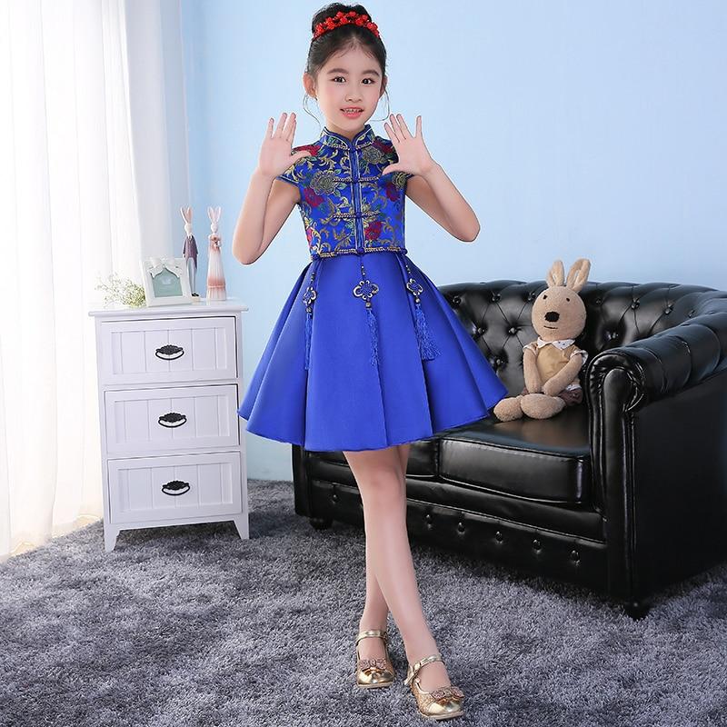 chinese traditional dresses qipao kids children cheongsam