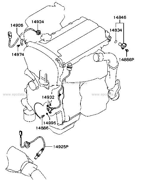 Lambda Sensor For Mitsubishi Airtrek Cu2w 4g63t