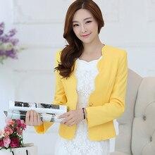 Ladies Small Suit 2017 Hot Sale Female Korean Slim Temperament Solid color  Small Blazers Women Short Paragraph