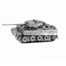 Finger Rock 3D Metal Puzzle DIY Model Tiger Tank Children Jigsaws Toys Present New Year Gift