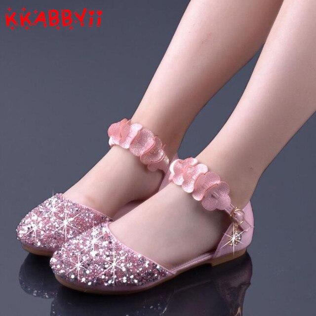 2c9bdb754fe6 KKABBYII Children Princess Shoes New Kids Girls Wedding Shoes High Heels  Dress Party Shoes For Girl Wedding Shoe Kids