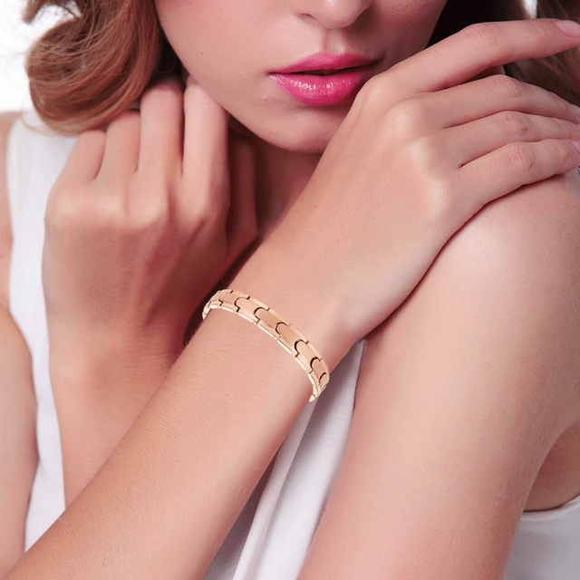 High Pure Germanium Rose Gold Color Health Energy Bracelet