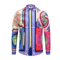 True Reveler Brand clothing Dress shirts 3D print Medusa shirts men long sleeve party club designer tops man nightclub shirts