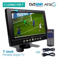Leadstar D768 7 дюймовый портативный телевизор DVB-T2 ATSC tdt цифровой и аналоговый мини маленький автомобильный телевизор Поддержка USB TF MP4 H.265 AC3