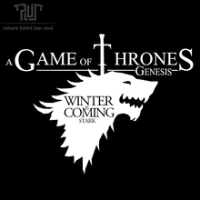 FREE SHIPPING game of thrones GOT winter is coming men black t shirt crew neck 100