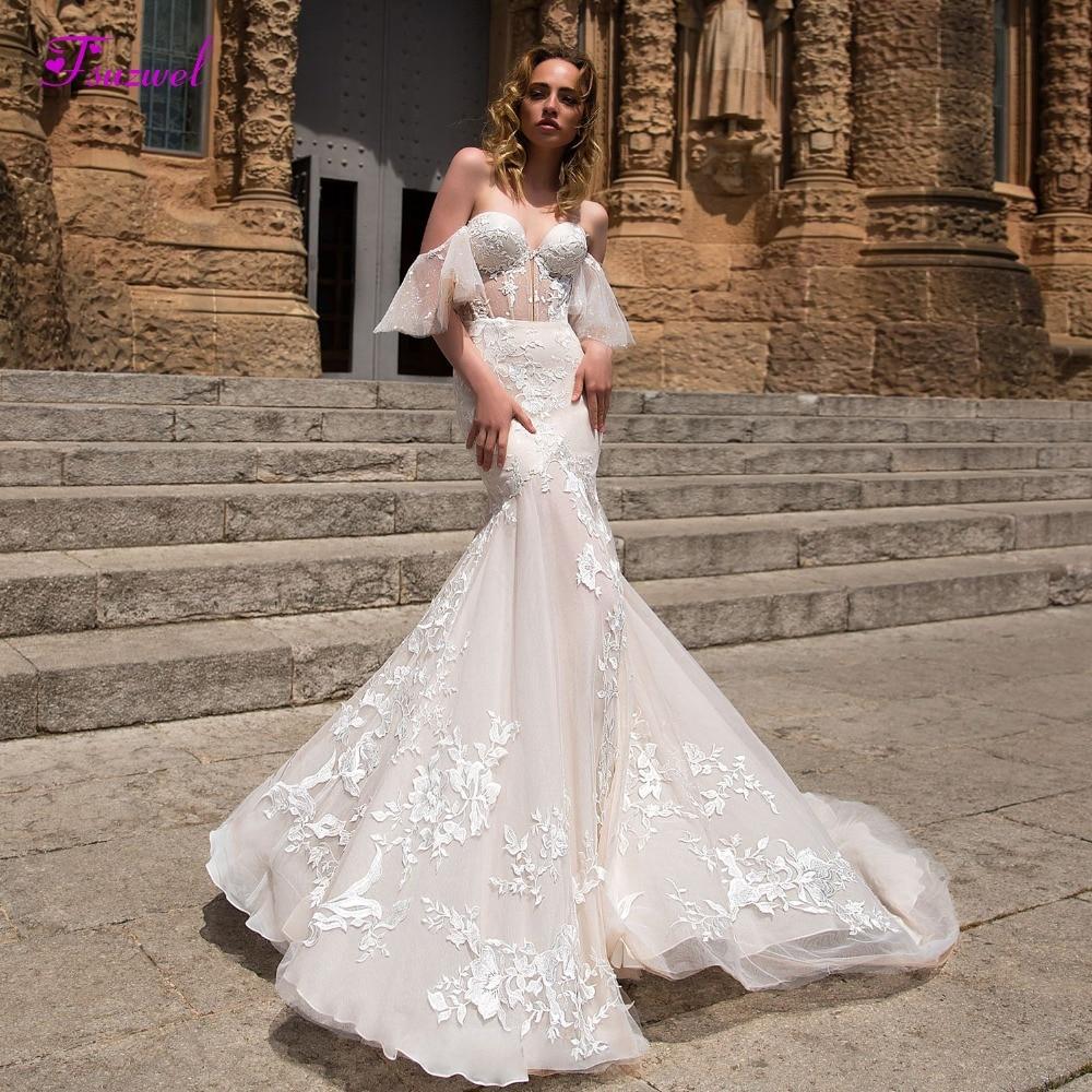 Sweetheart Mermaid Wedding Gown: Aliexpress.com : Buy Fsuzwel Sexy Sweetheart Neck Robe De