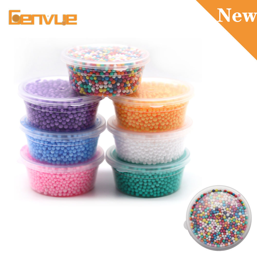 Fluffy Foam Beads Addition For Slime Charms Colorful Foam Balls DIY Filler For Slime Supplies Mini Soft Beads Decor For Slime