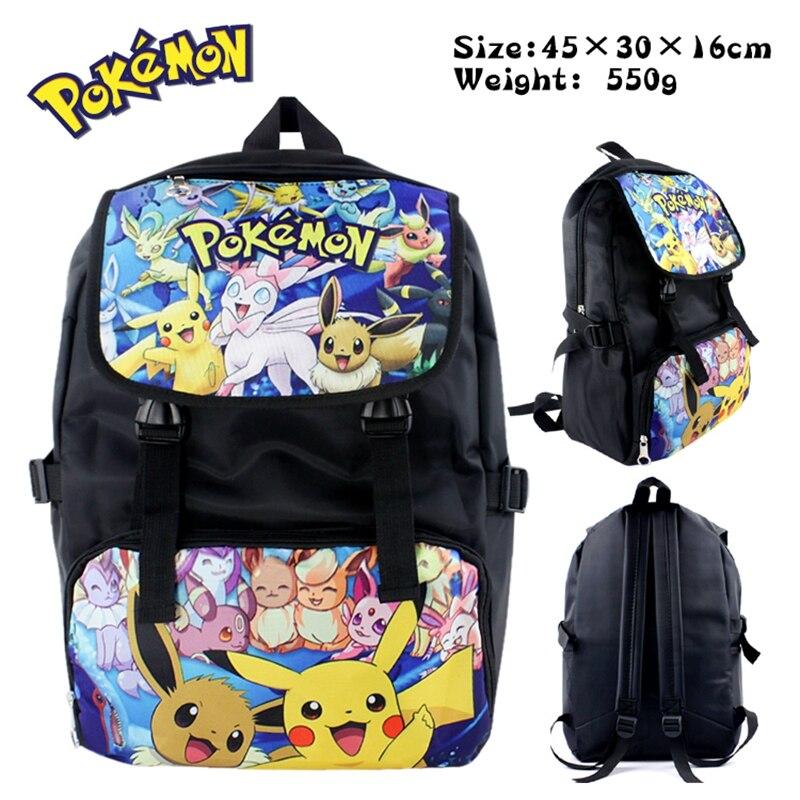 Anime pokemon Womens Mens Backpack School Bags Cartoon Cool Laptop Backpack Black Backpack For Children Boys GirlsAnime pokemon Womens Mens Backpack School Bags Cartoon Cool Laptop Backpack Black Backpack For Children Boys Girls