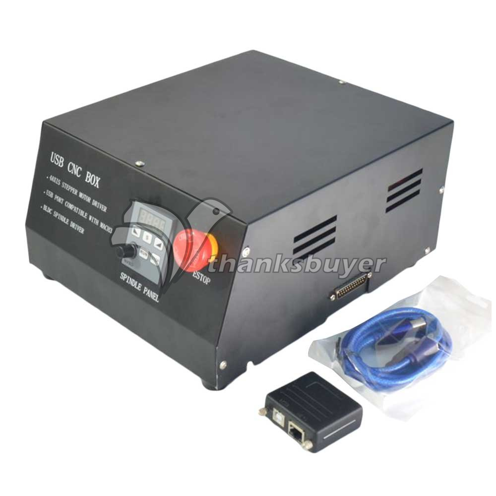 200Khz USB CNC Router Box 4 Axis Stepper Motor Driver Controller NC200 Adapter for MACH3 Engraving