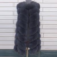New Winter Fur Vests Genuine Fox Fur Vest New Women's Full Pelt Gilet Warm Clothes Luxury Real Natural Fox Fur Waistcoat 2016