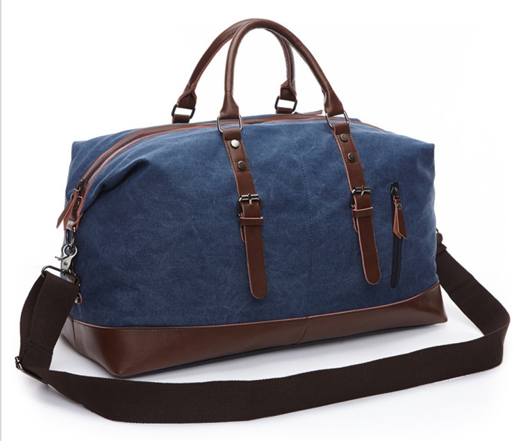 Large Capacity Outdoor Men Canvas Gym Travel Duffel Bag High Quality Casual Crossbody Shoulder Tote Travel Bags Luggage(14)