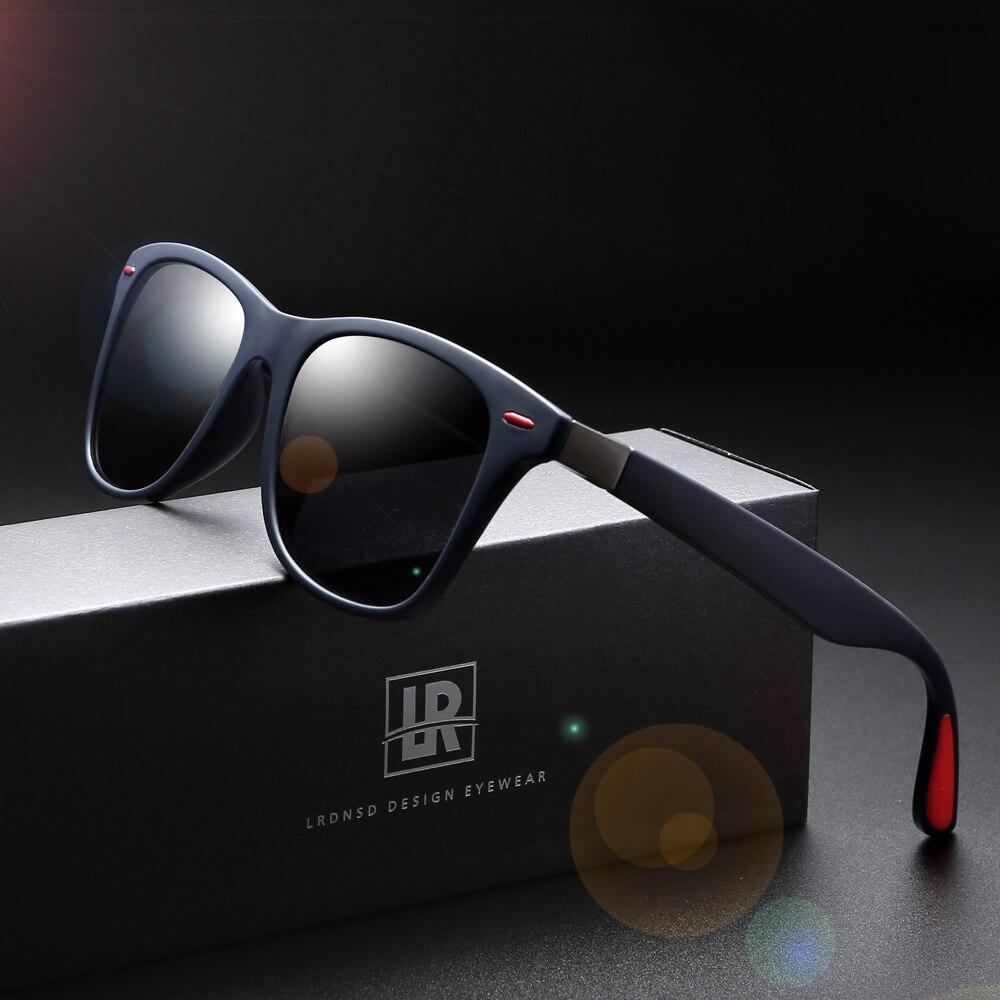 Marque lunettes De soleil polarisées hommes conception femmes cadre carré lunettes De soleil mâle UV400 Gafas De Sol