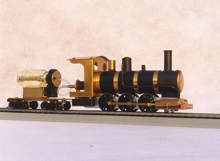 US $346 0 |Model Train ho scale Live Steam butane fired steam driven  machine aesthetic Train Free Shipping-in Model Building Kits from Toys &  Hobbies